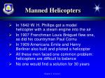 manned helicopters