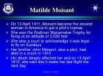 matilde moisant