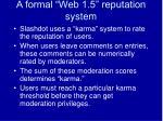 a formal web 1 5 reputation system