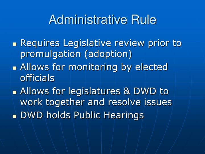 Administrative Rule