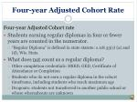 four year adjusted cohort rate1