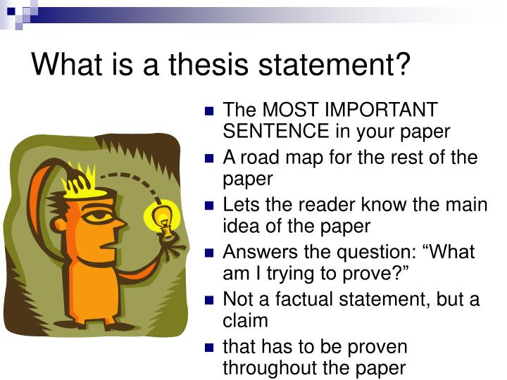 What is a thesis statement1