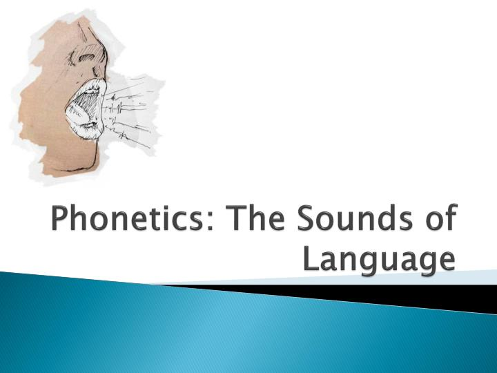 phonetics the sounds of language n.