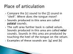 place of articulation3