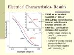 electrical characteristics results1