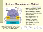 electrical measurements method