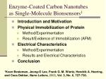 enzyme coated carbon nanotubes as single molecule bionsensors 1