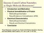 enzyme coated carbon nanotubes as single molecule bionsensors 1