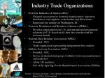industry trade organizations