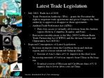 latest trade legislation