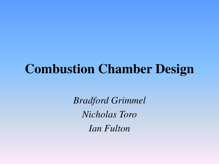 combustion chamber design n.