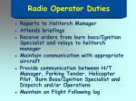 radio operator duties