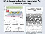 dna decorated carbon nanotubes for chemical sensing
