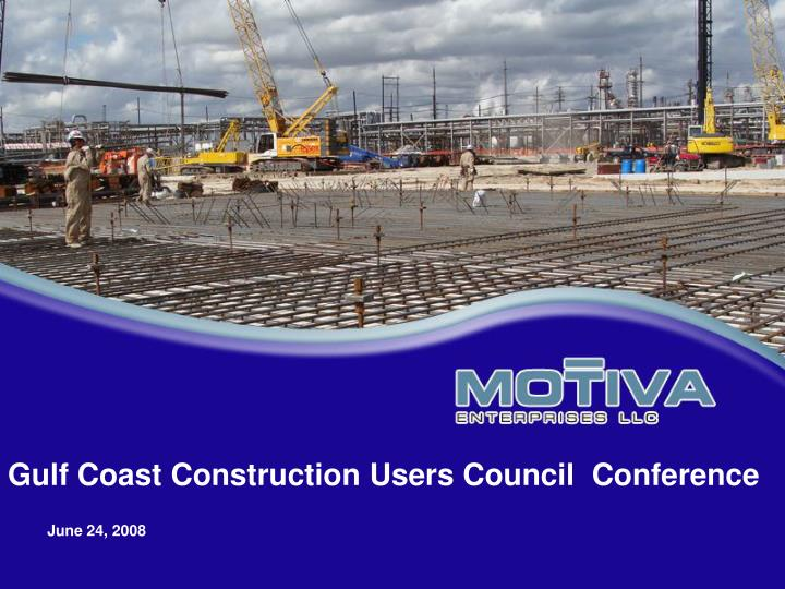 gulf coast construction users council conference n.
