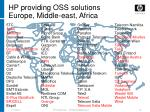 hp providing oss solutions europe middle east africa