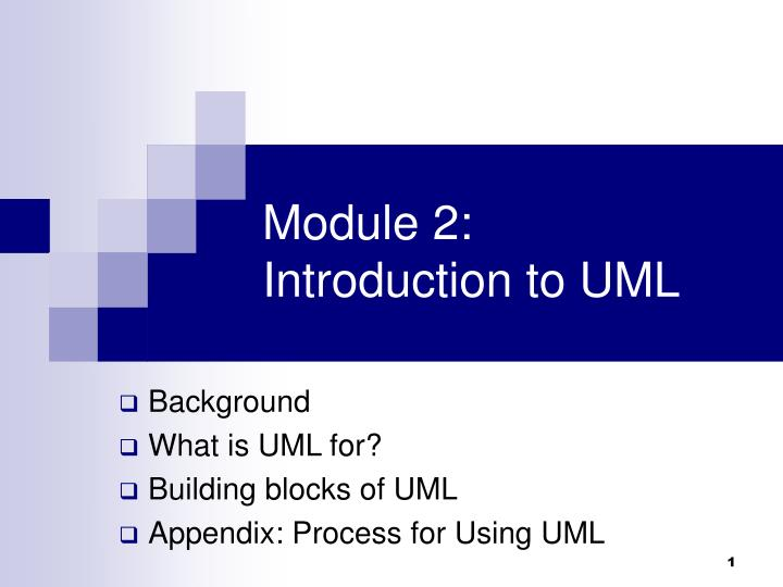 module 2 introduction to uml n.