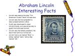 abraham lincoln interesting facts