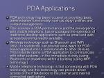pda applications