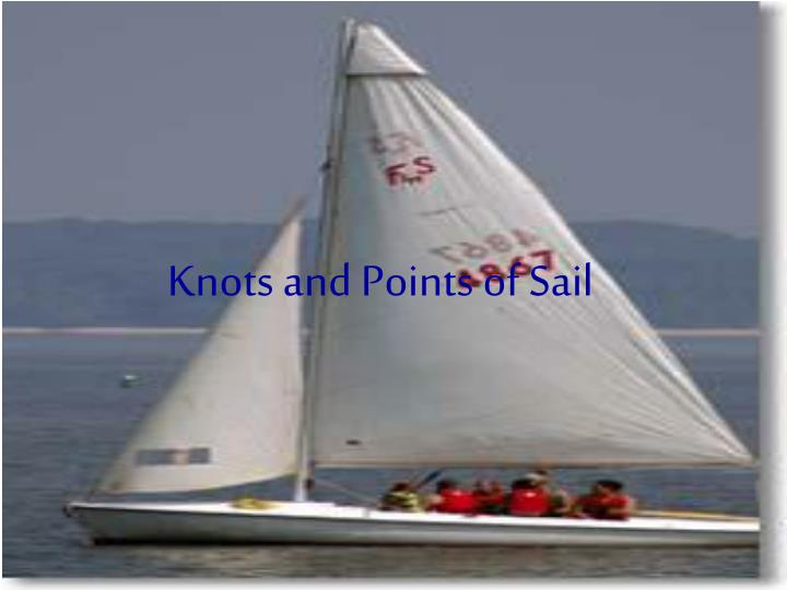 knots and points of sail n.