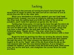 tacking