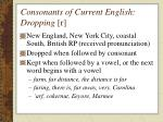 consonants of current english dropping r