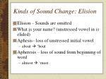 kinds of sound change elision