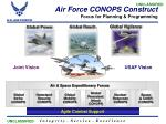 air force conops construct focus for planning programming