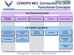 conops mcl connection to joint functional concepts