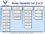 master capability list 2 of 2