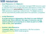 nim resources