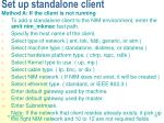set up standalone client
