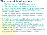 the network boot process