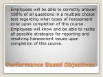 performance based objectives