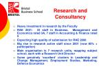 research and consultancy