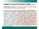 consultation with institutions cont1