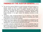 findings by the auditor general cont