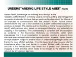 understanding life style audit cont