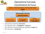 operational concept coordination focus