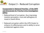 output 3 reduced corruption