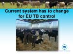 current system has to change for eu tb control