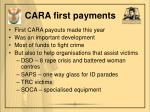 cara first payments