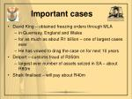 important cases