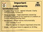 important judgements