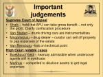 important judgements1