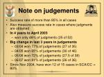 note on judgements