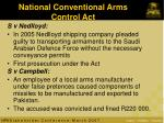 national conventional arms control act
