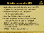 notable cases with afu