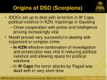 origins of dso scorpions1