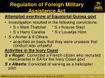 regulation of foreign military assistance act