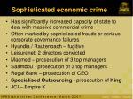 sophisticated economic crime